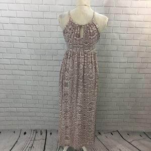 Cynthia Rowley Dresses - Snake Print Empire Waist Maxi Dress w Keyholes